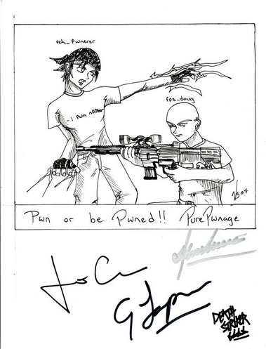 Signed Drawing Jeremy / Doug
